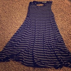 Blue & White striped size S American Eagle dress